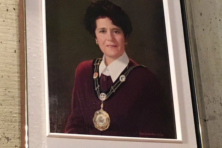 Shannie Duff's mayoralty portrait in council chambers at St. John's City Hall.