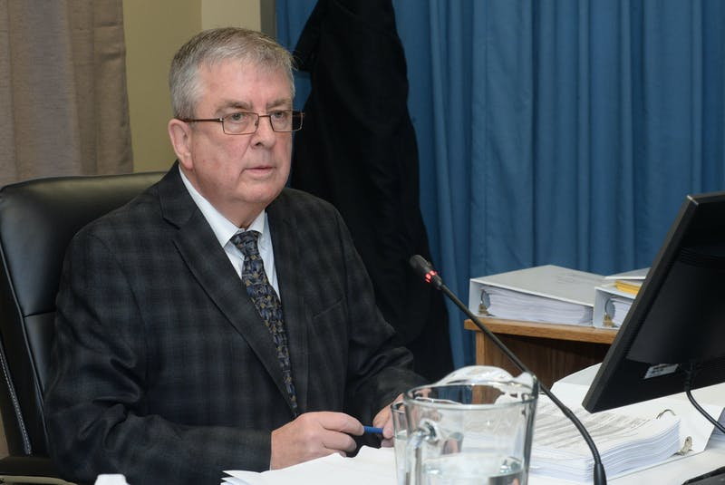 Ron Power, a contractor working for Nalcor, testifies Tuesday at the Muskrat Falls Inquiry in St. John's. - Joe Gibbons