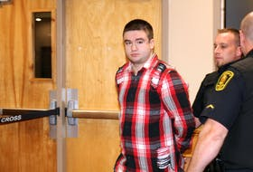 Dustin Etheridge at court in St. John's on Thursday.