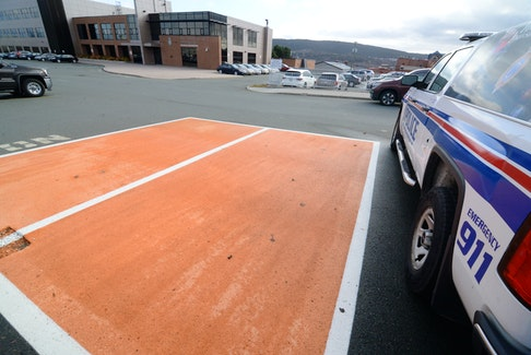 """The RNC's """"online purchasing safe exchange zone"""" at Fort Townshend in St. John's."""