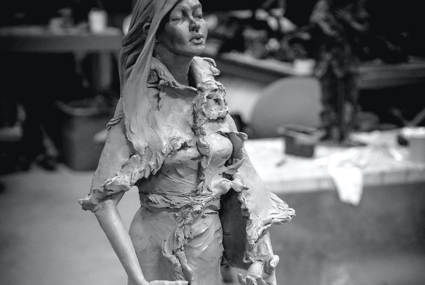 Morgan MacDonald's statue of Shanawdithit, the last Beothuk woman in Newfoundland and Labrador.