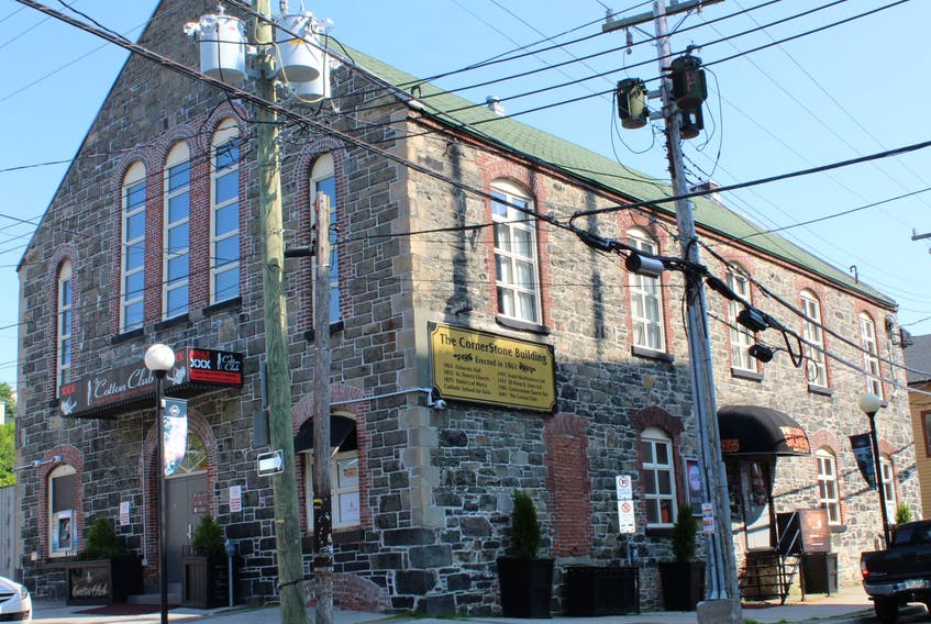 Civic No. 16 Queen Street in downtown St. John's was once a church, among other things, and is now a strip club and sports bar.