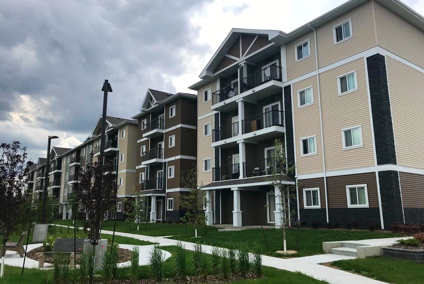 Pine Creek Manor is the first private-public sector partnership of its kind in Alberta to integrate affordable rental units into a market housing development.
