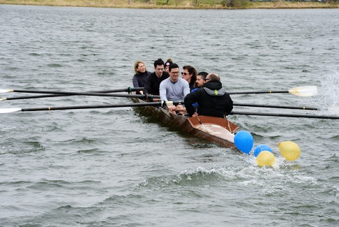 Two years ago, the Royal St. John's Regatta Committee kicked off 200th anniversary celebrations of what has been deemed North America's oldest continuing sporting event at the Quidi Vidi Boathouse April 30, 2018. Six members of the committee took the racing shell Catherine M around the pond before Regatta crews took to the water for their first practice spins of the year. Taking the spin with coxswain and fellow Regatta committee member Bradley Power are (from front) Scott Howell, Chris Neary, Leigh Anne O'Neill, Zach Meaney, Jennifer Browne and Sharon Drover.