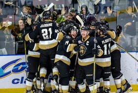 The Newfoundland Growlers have already celebrated two wins at Mile One Centre during this ECHL Kelly Cup final. If they do it one more time, they will celebrate as league champions. — Newfoundland Growlers photo/Jeff Parsons