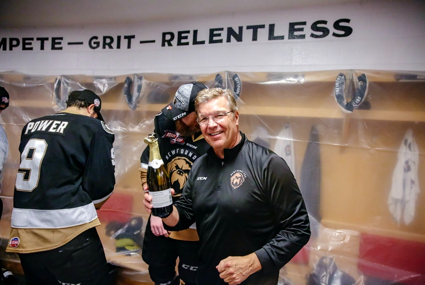 Newfoundland Growlers Owner Dean MacDonald was feeling bubbly after his team's Kelly Cup win Tuesday night, a championship that should give a big boost to the team's marketing effort for its second season in the ECHL.