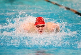 Owen Daly of St. John's is shown swimming for Memorial University in this file photo. Daly, who now trains at the CANO club in Montreal while studying at Concordia University, earned a place on the Canadian team that will compete at the Pan Pacific meet in Tokyo next month in what is essential a preview event for the 2020 Summer Olympic Games.