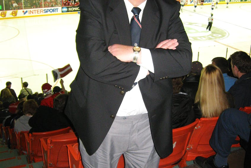 Don Johnson, shown here in this 2008 file photo at the world hockey championship in Halifax, was a native Nova Scotian, but a long-time St. John's resident who made a mark on hockey in Newfoundland and Labrador.