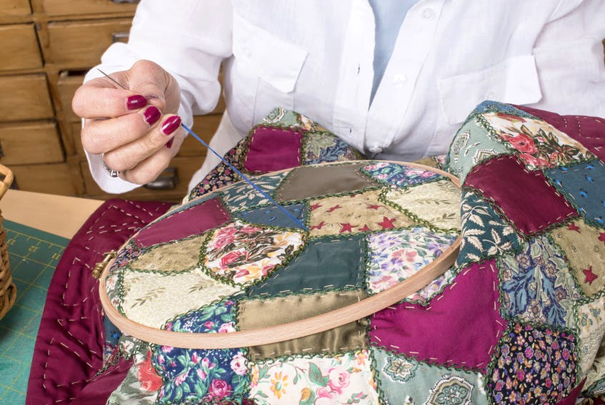 Krista Hennebury will hold a quilting workshop, Round Peg, Square Hole (or Quarter Round), at St. Peter's Parish Hall, 110 Ashford Dr., today from 10 a.m. to 5 p.m. $90. Fee includes pattern. Space for 20 participants. Hosted by the St. John's Modern Quilt Guild.