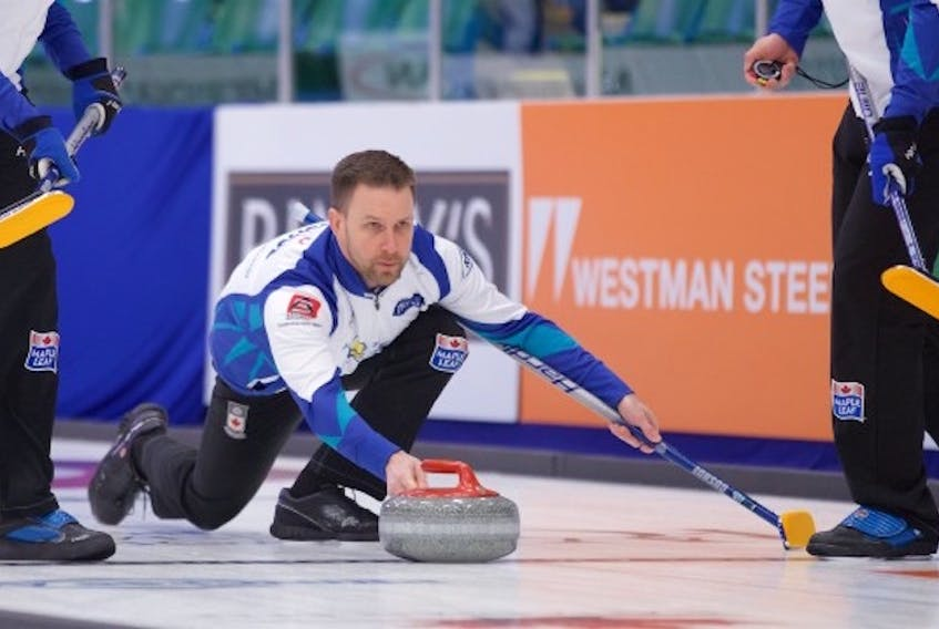 Brad Gushue and his rink are 1-1 heading into play today at the Canadian Open in Camrose, Alta.