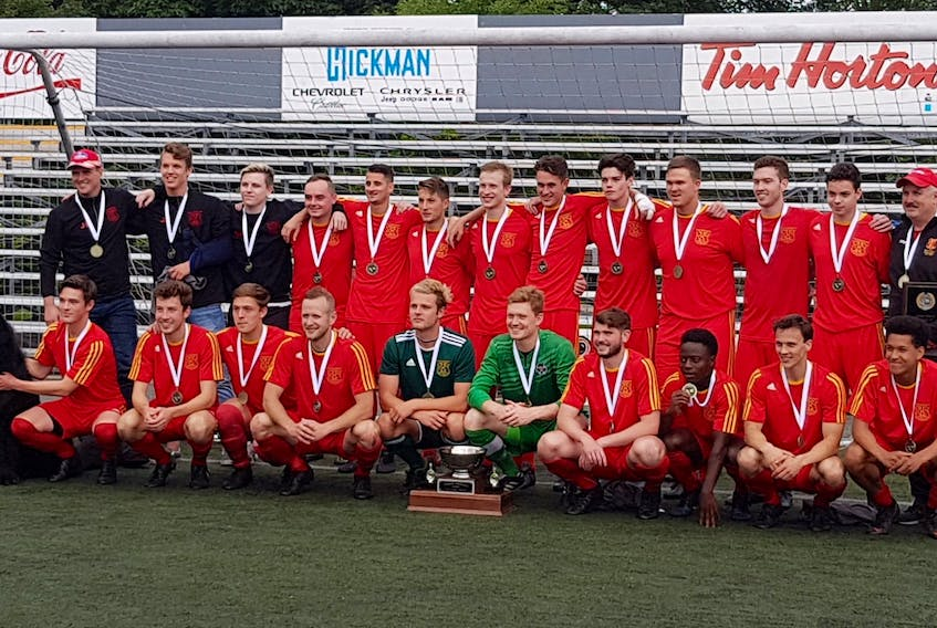 Their 19th provincial Challenge Cup will send the Holy Cross Crusaders to the 2018 Canadian senior men's soccer championship, to be held over the Thanksgiving weekend in Saskatoon. — NLSA