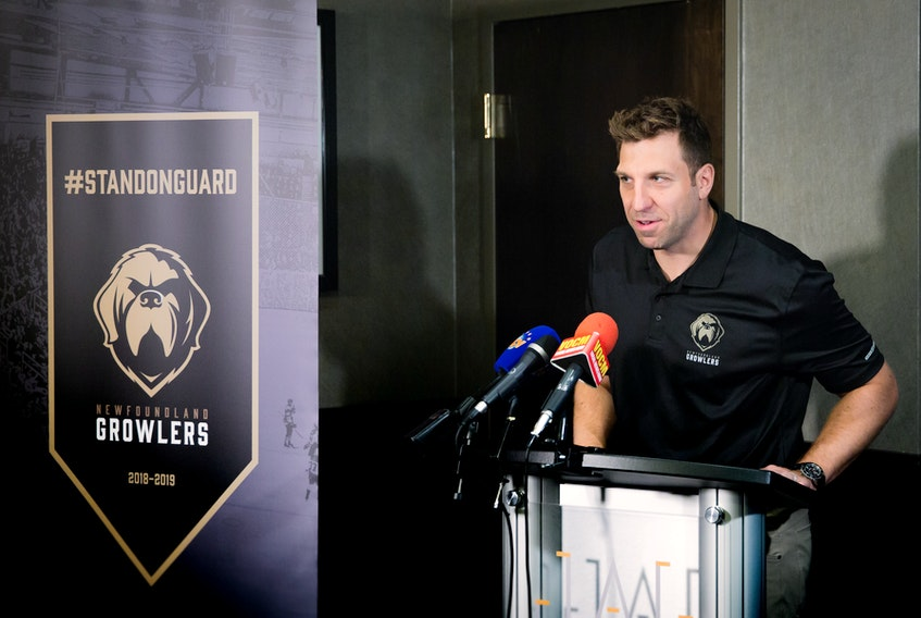 Ryane Clowe was all smiles when he was introduced as the Newfoundland Growlers' first coach this past summer. Six months later, he's been forced to step away from the job because of concussion-related issues.