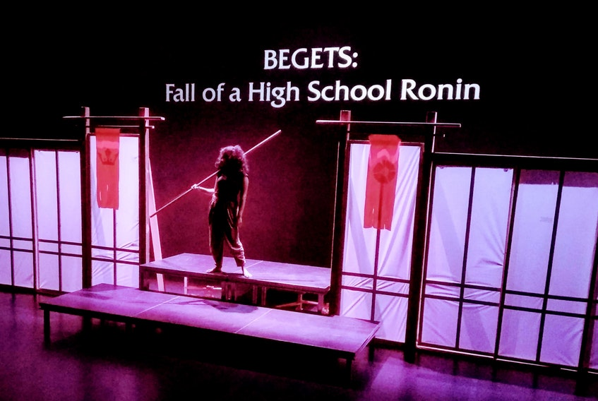 """A scene from Mad As Hops Productions' staging of the play of """"Begets: Fall of a High School Ronin"""" at the LSPU Hall in St. John's."""