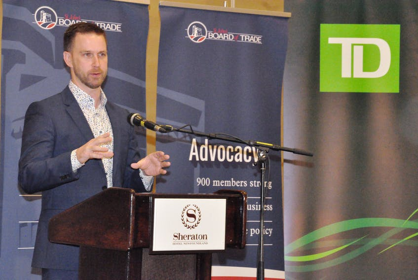 2017 Tim Hortons Brier championship skip Brad Gushue spoke about planning for success at a St. John's Board of Trade luncheon on Wednesday. When not dominating the World Curling Tour or winning grand slam of curling titles, Gushue is a private business owner in St. John's and says there are correlations between success in curling and success in the business world.