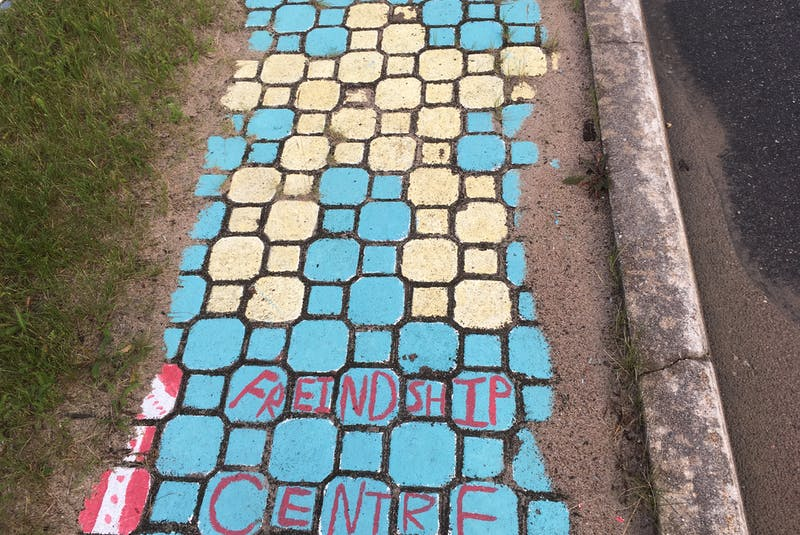 A mosaic, as seen outside of the Labrador Friendship Centre in Happy Valley-Goose Bay in August 2017. - Ashley Fitzpatrick