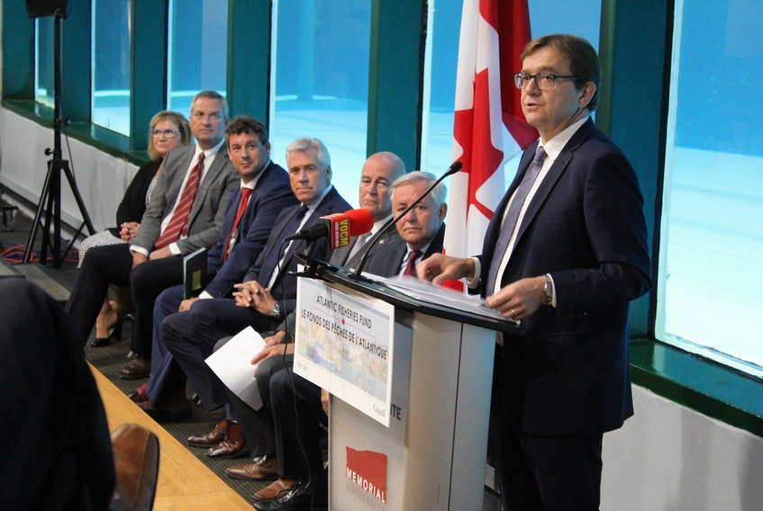 Federal Fisheries Minister Jonathan Wilkinson announces $8 million in funding for 59 projects from the Atlantic Fisheries Fund on Tuesday.