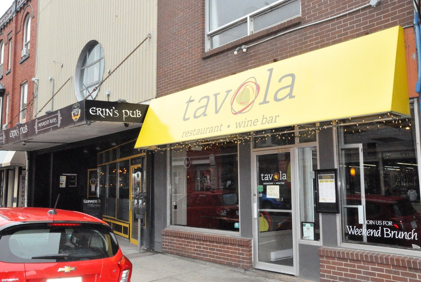 Tavola restaurant and tapas bar on Water Street in downtown St. John's will be closed for the next few months while owner Bob Hallett completes some renovations, repairs and a reimagination of the 125-year-old building. Hallett recently assumed sole ownership of the neighbouring Erin's Pub, buying out co-owner Chris Andrews, and plans to combine it with Tavola. He hopes to have all the work completed by Christmas.