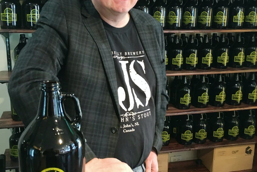Co-owner Craig Flynn says they sold over 200 growlers of beer in the first week of business at the new YellowBelly Takeaway at 264 Water St.