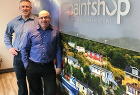 Paint Shop president Bob Payne (left) and vice-president of sales and marketing Rob Simms are a little busier these days now that the company has acquired three new locations in Halifax.