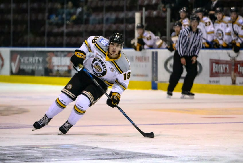 Kyle Robinson Photography Despite being 16, Alex Newhook of St. John's is in the running for the British Columbia Hockey League's scoring title this season. Newhook, who may be Newfoundland's best talent to come along since Daniel Cleary, has committed to attend Boston College starting in 2019.