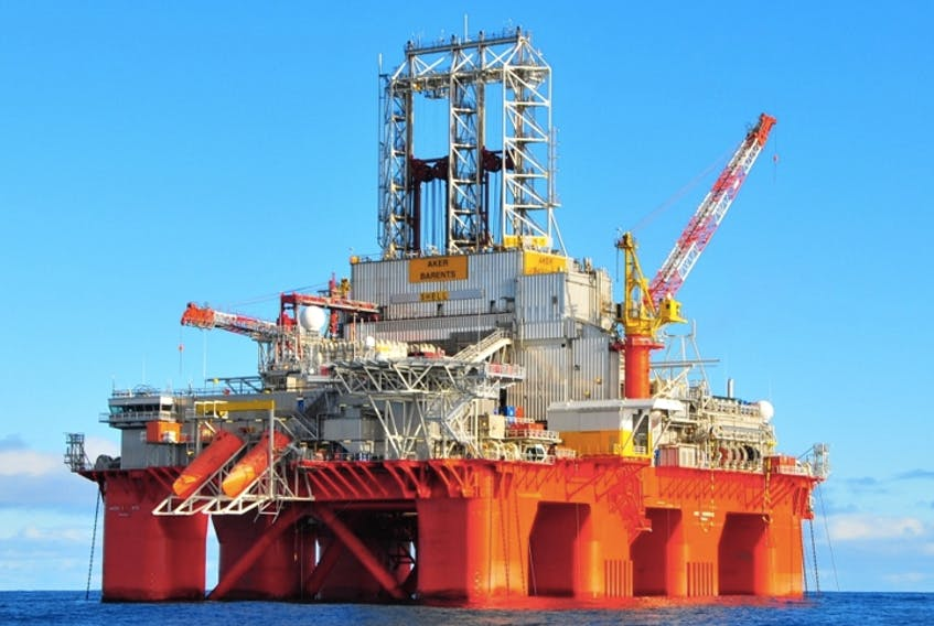 The drilling rig Transocean Barents is shown in a handout photo. — Transocean