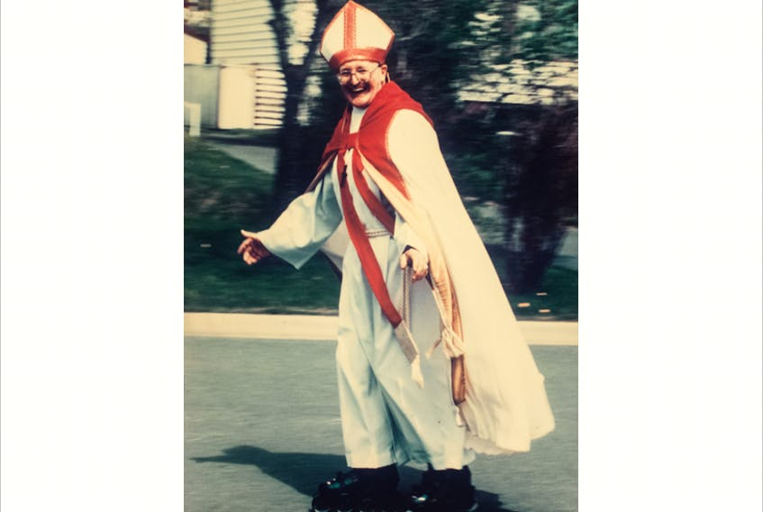 The late Bishop Mark Genge didn't hold with pomp and circumstance. He made national headlines as the roller-blading bishop, crossing the island on foot to raise money for Queen's College.