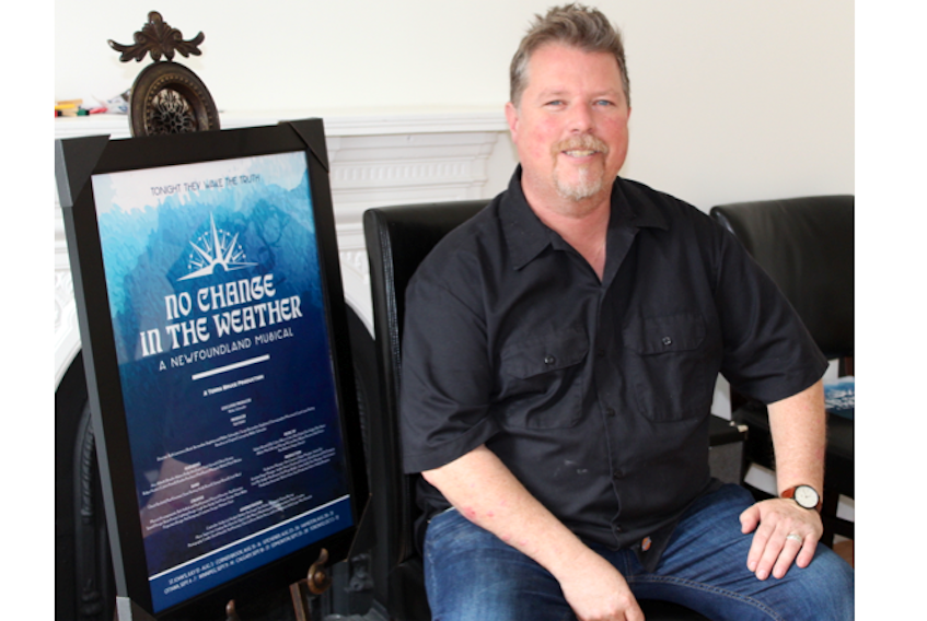 """Bob Hallett, a musician, author and entrepreneur, is the producer of the musical """"No Change In The Weather,"""" which has sold out shows in St. John's and will tour the country."""