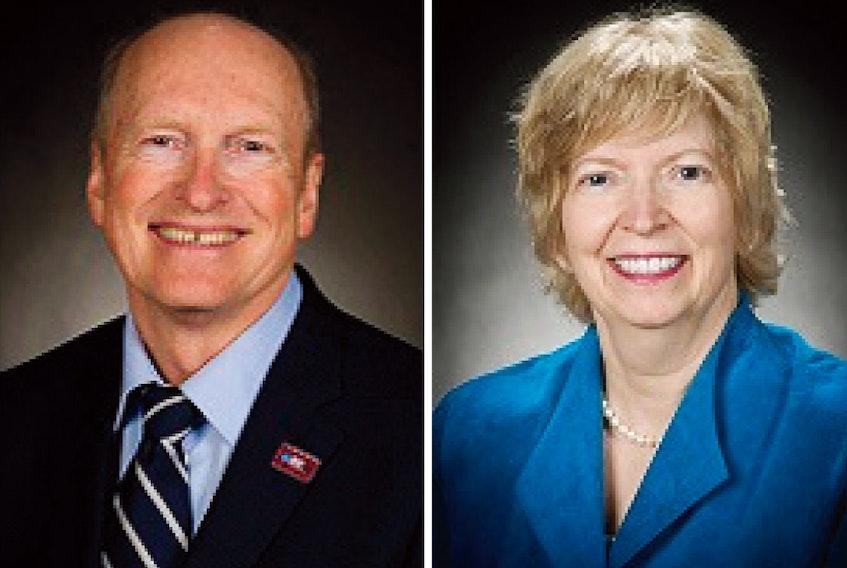 Dr. James Rourke (left) and Dr. Leslie Rourke.