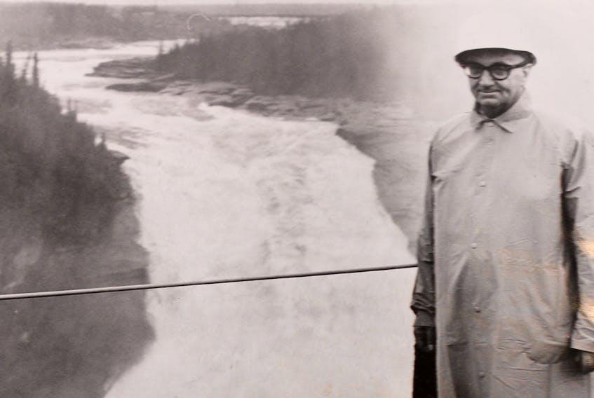Joseph R. Smallwood at the Churchill River, circa the 1960s. — Telegram file photo