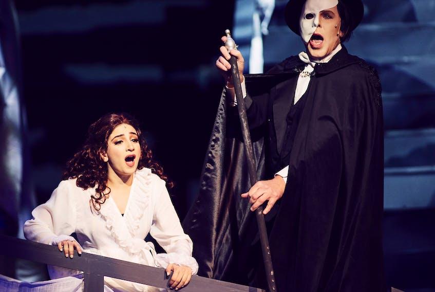 Roger Honeywell as the Phantom of the Opera and Teresa Tucci as Christine Daaé. DAVID HOWELLS PHOTO