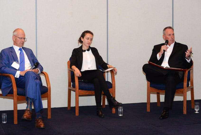 Windsor Lake byelection candidates (from left) — Progressive Conservative Ches Crosbie, New Democrat Kerri Claire Neil and Liberal Paul Antle, took part in a candidates debate hosted by the St. John's Board of Trade and moderated by The Telegram Friday in St. John's