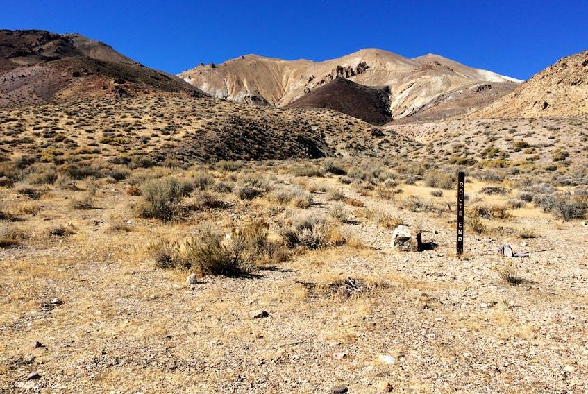 Route End, Black Rock Desert, Nevada. —