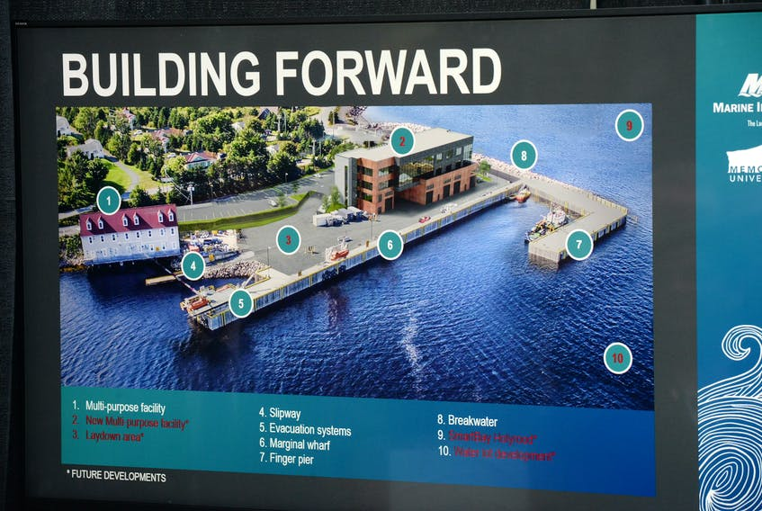 An artist's conception of what the planned expansion of MUN's Fisheries and Marine Institute base in Holyrood will look like.