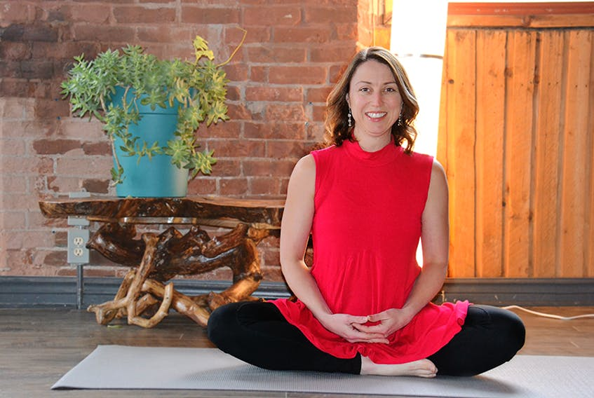 Samantha Sambrooke, owner of the Maritime Yoga College, says an all-woman Sunday yoga class has chosen Anderson House for its Yoga for Charity donations.  ©THE GUARDIAN
