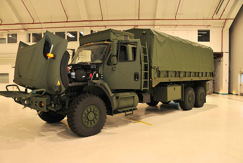 A Militarized Commercial-Off-The-Shelf (MilCOTS) truck, part of the Army Reserve 36 Signal Regiment's vehicle list, and part of the Canadian Forces' Medium Support Vehicle System (MSVS). ©Cpl. Beaudoin