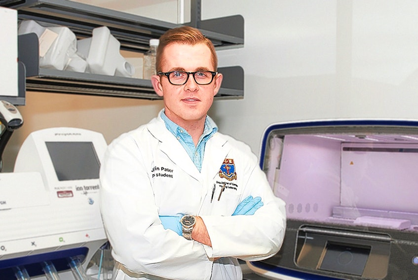Justin Pater recently accepted a postdoctoral research position at Harvard University to study nerve sheath tumours. Pater, who grew up in Montague, hopes to bring his knowledge back home and offer personalized medicine treatments to cancer patients on P.E.I.  ©THE GUARDIAN - Memorial University -