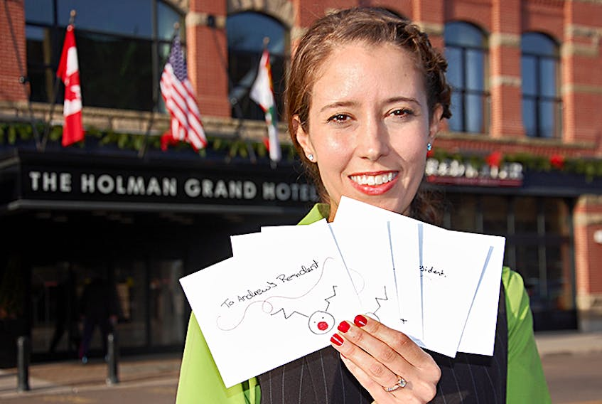 Ashley Feschuk hopes Islanders will take part in her campaign to help get Christmas cards filled with special messages to the more than 150 residents of Andrews of Charlottetown and Andrews of Stratford. ©THE GUARDIAN