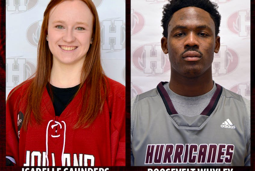 Isabelle Saunders and Roosevelt (Chicken) Whyley are the Holland College Hurricanes athletes of the week.