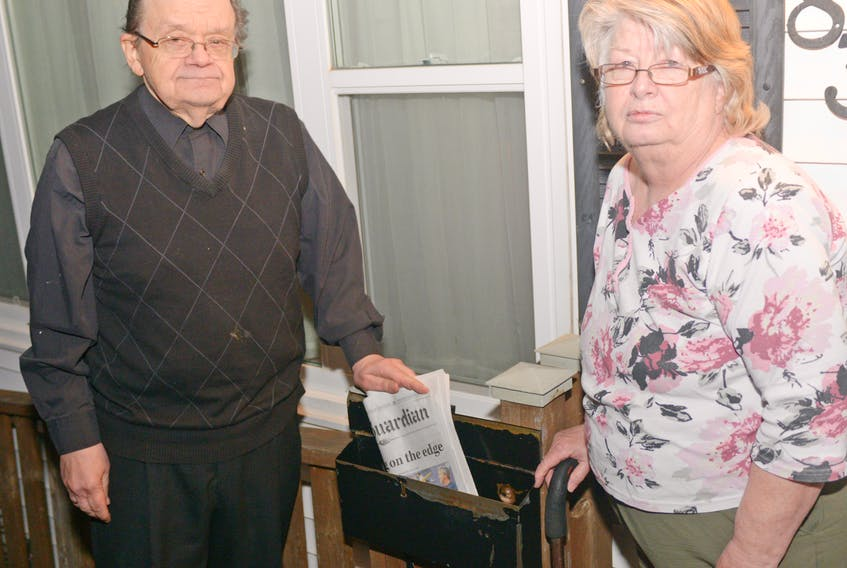Lorna and Jack MacPherson are upset their home mail delivery will never be restored and say they will take their concerns about this to the ballot box in the next election.
