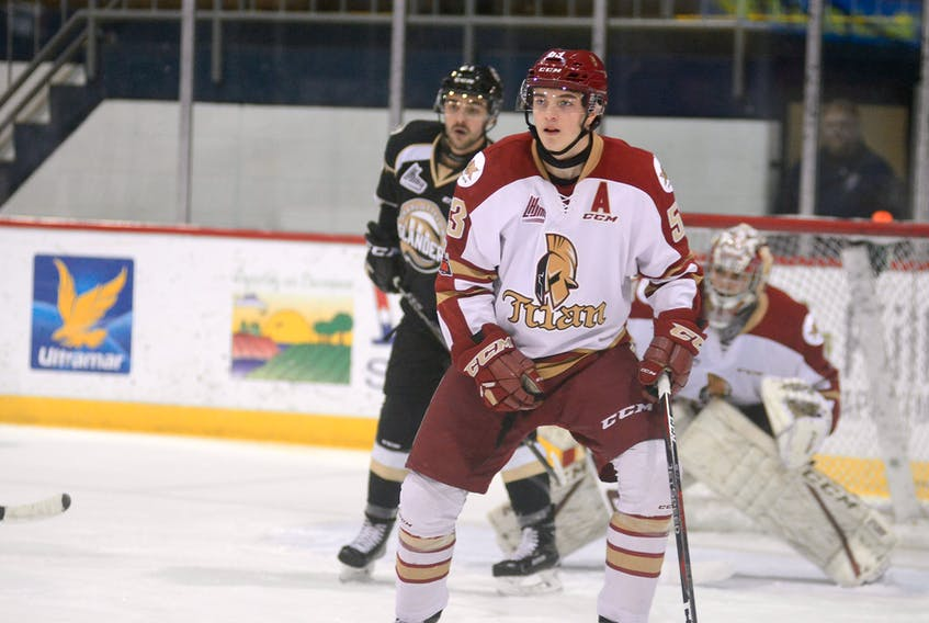Summerside native Noah Dobson is in his second season with the Acadie-Bathurst Titan of the Quebec Major Junior Hockey League.