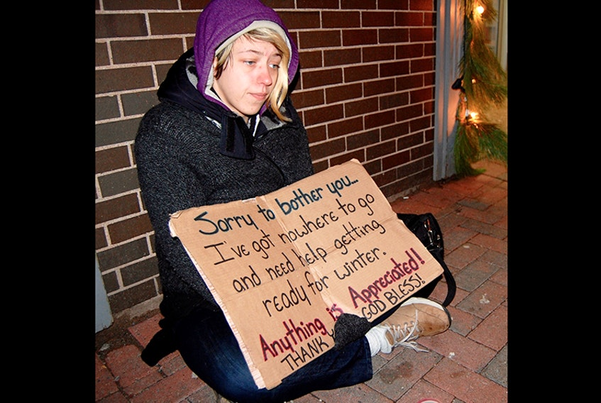 Hailey Eldershaw, 24, has been without steady housing for several months in Charlottetown.  ©THE GUARDIAN – Jason Daley