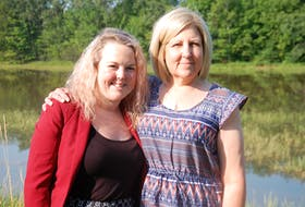 Annie MacDonald, left, of Rustico and Kim Moncion of Charlottetown are grateful for a new lease on life after receiving kidney transplants last year with the organs coming from the same young body.