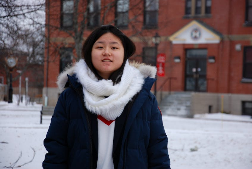 Vivian Xie, 13, of Charlottetown is a first-year student at UPEI, setting her sights on becoming a veterinarian while still a teenager.