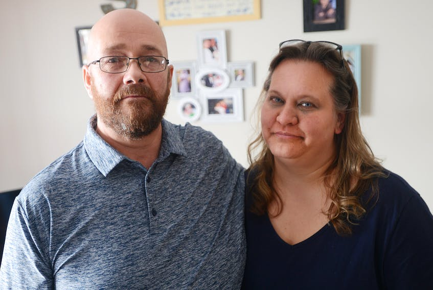 Ralston, left, and Natalie Small, of Meadow Bank are raising awareness around what they describe as a lack of accountability for P.E.I.'s department of family and human services. The couple had the highest certified level foster home in the province, a status that was revoked after they applied to adopt a boy who ended up living with them for several years.