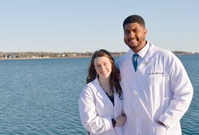 Barbados native Brett Nightingale, a recent graduate from the Atlantic Veterinary College in Charlottetown, is fighting to be allowed to work in Canada as a vet. He is pictured with his girlfriend, Paige Gamester, a P.E.I. native who also graduated from AVC in 2018.