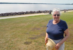 Kirsten Connor, who lives close to Victoria Park in Charlottetown, is dismayed at the notion the city wants to put a removable floating dock system in off the boardwalk between the playground and the tennis courts. Connor prefers an unobstructed view all around the boardwalk.