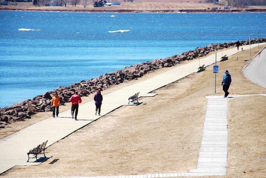 The many pedestrians who take a stroll along the Charlottetown boardwalk on warm, sunny days may soon be able to enjoy the water view by venturing out on a floating dock. Coun. Mitchell Tweel, the chairman of the city's recreation and parks committee, hopes the dock will be dropped in place by the end of May.