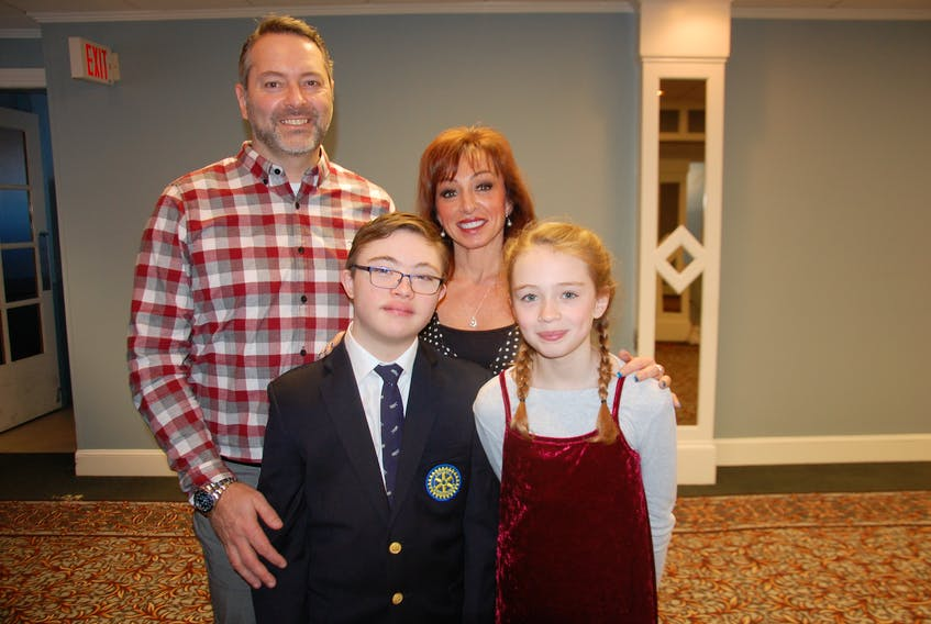 Ty MacLeod of Summerside is surrounded by parents Brian and Shelley, and sister Tori. Ty, who turns 13 on Friday, is the 2019 Easter Seals Ambassador for P.E.I.