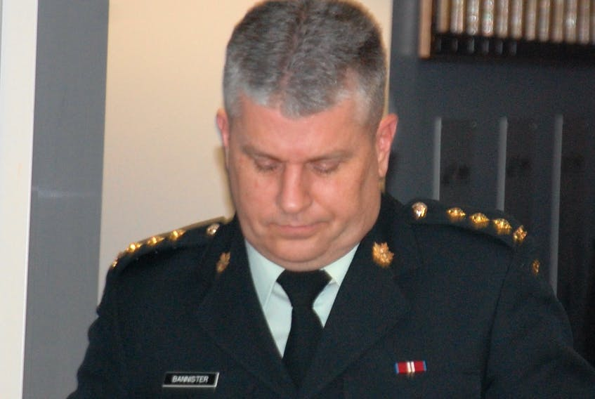 Capt. Todd Bannister leaves military court in Charlottetown on Monday following the first day of his trial. Bannister is on trial for three counts of behaving in a disgraceful manner and three counts of conduct to the prejudice of good order and discipline.  ©THE GUARDIAN - Jim Day