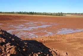Dale Small submitted this photo of a new irrigation pond being built in Spring Valley. (Submitted photo)